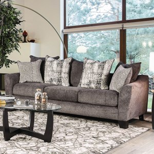 Contemporary Sofa with Loose Back Pillows