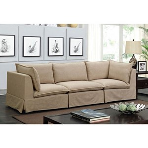 Transitional Sectional Sofa with Skirted Base