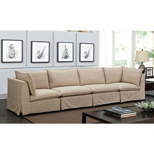 Transitional Straight Sectional with Skirted Base