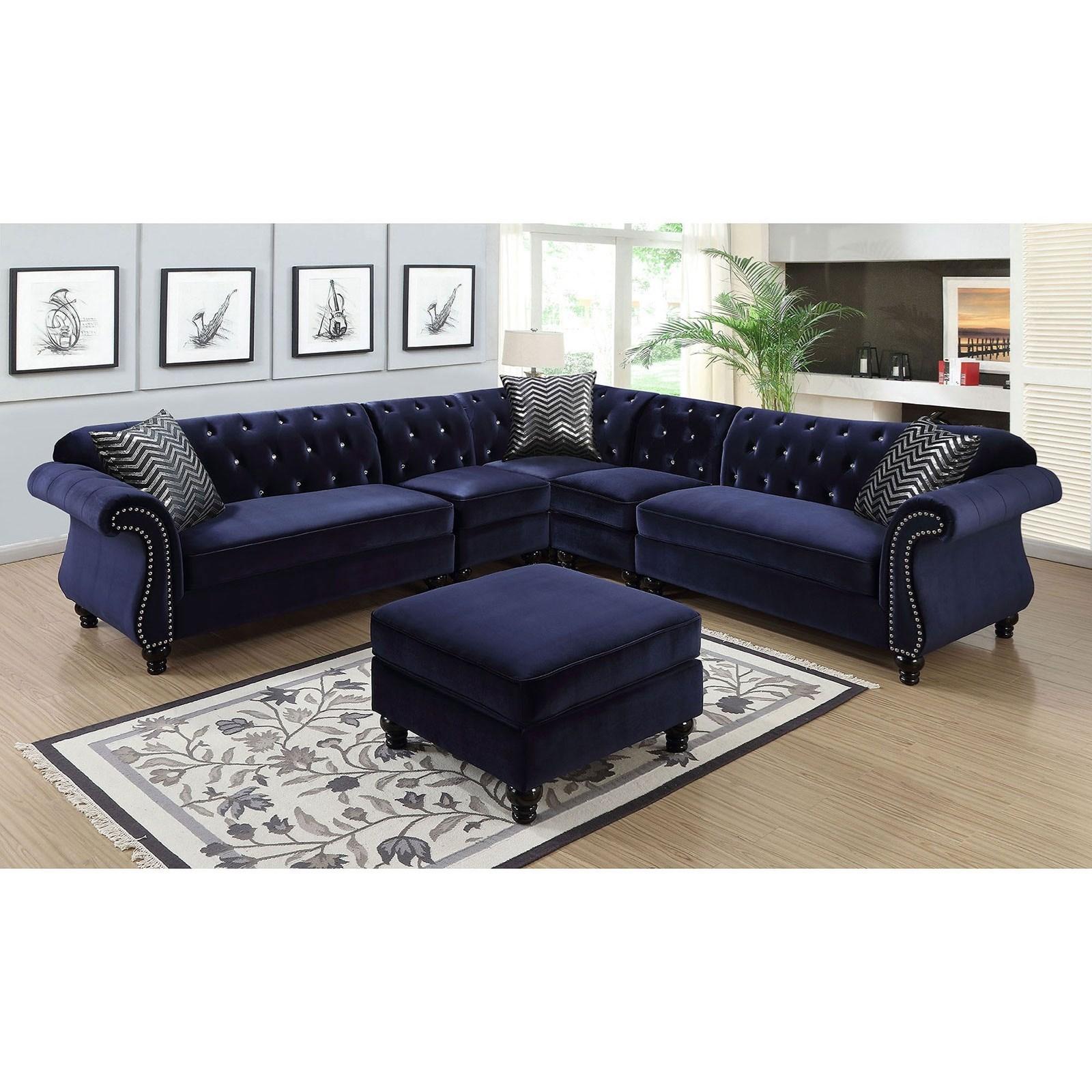 Jolanda II Sectional by Furniture of America at Nassau Furniture and Mattress