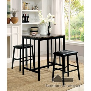 3 Pc. Counter Ht. Table Set