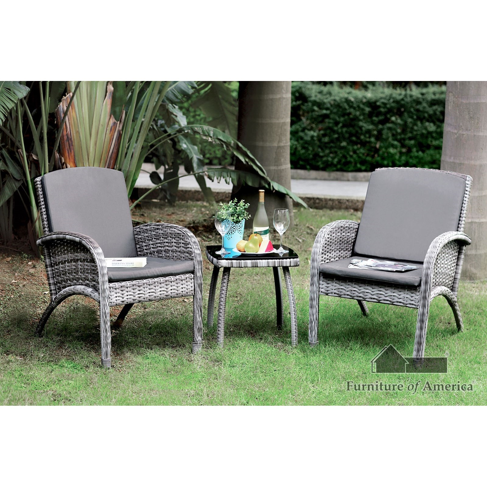 Juno 3 Pc. Patio Seating Set at Household Furniture