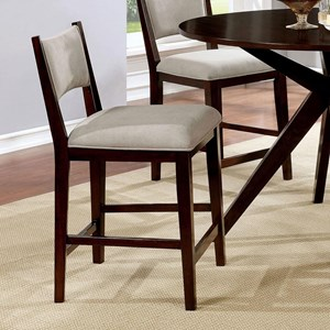 Set of 2 Modern Counter Height Chairs with Upholstery