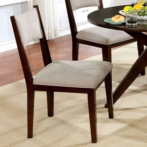 Set of 2 Modern Side Chairs with Upholstery