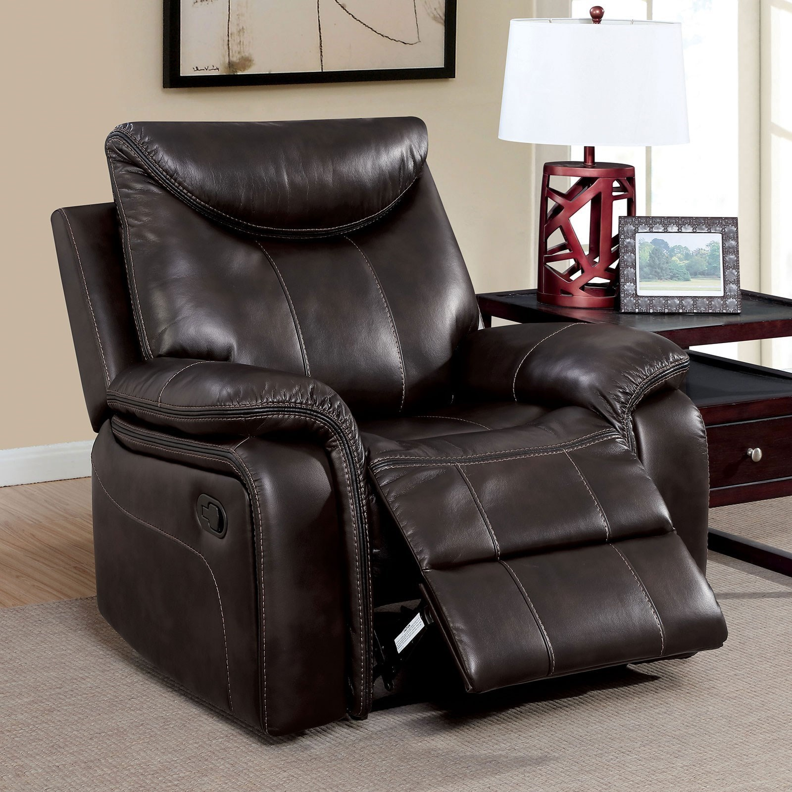 Karlee Recliner by Furniture of America at Corner Furniture