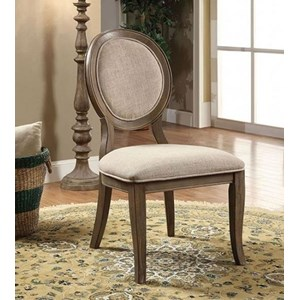 Transitional 2 Pack of Upholstered Side Chairs
