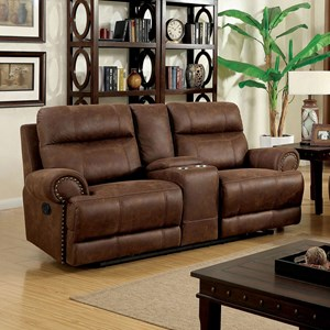 Reclining Loveseat with Storage Console