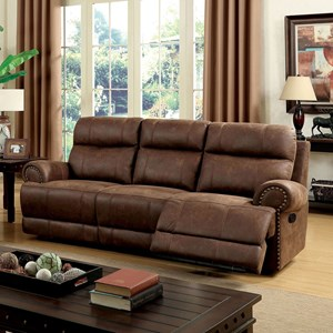 Reclining Sofa with Padded Headrest