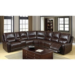 Reclining Sectional with Cupholders