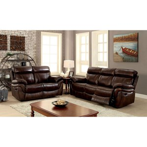 Three Piece Reclining Living Room Set - Sofa, Loveseat, Chair