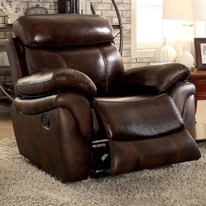 Casual Leather Match Recliner
