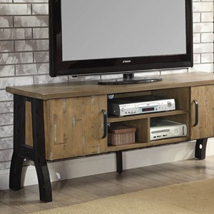"""Industrial 60"""" TV Stand with Shelving"""