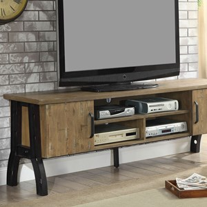 "Industrial 72"" TV Stand with Shelving"