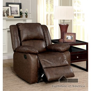 Recliner with Pillow Armrests