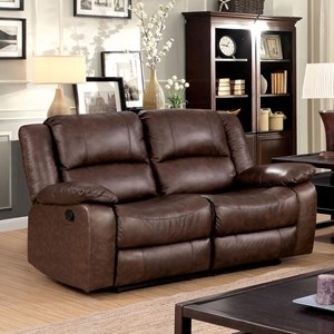 Reclining Loveseat with Pillow Arms