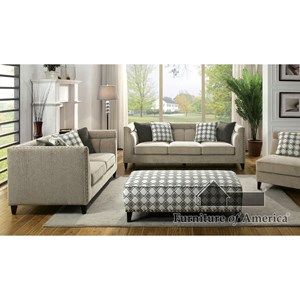 Contemporary 3 Piece Living Room Set with Sofa, Loveseat, Chair