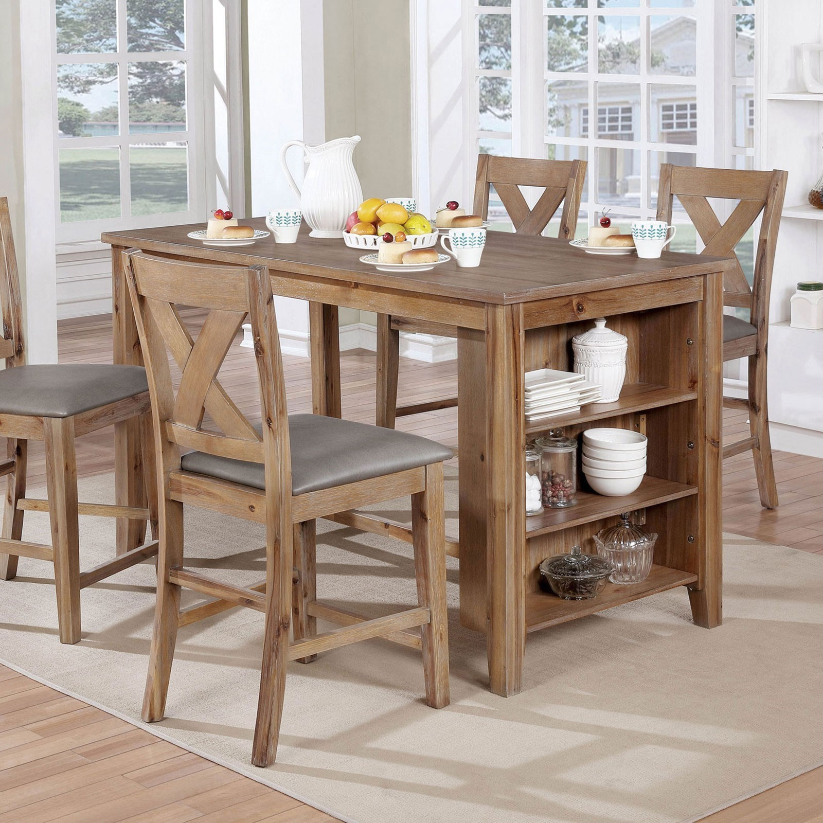 Lana Counter Height Table by Furniture of America at Nassau Furniture and Mattress