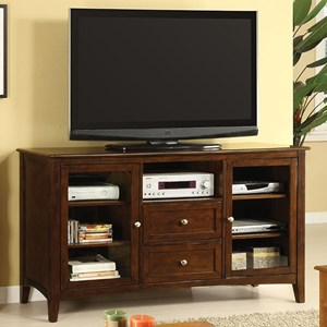 Transitional TV Console with 7 Shelves