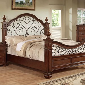 Traditional King Wrought Iron Poster Bed