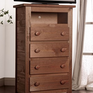 Solid Pine Media Chest