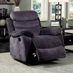 Transitional Glider Recliner with Manual Release