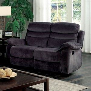 Transitional Loveseat with 2 Recliners