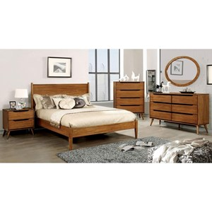 Queen Bed and 1NS and Dresser and Oval Mirror and Chest