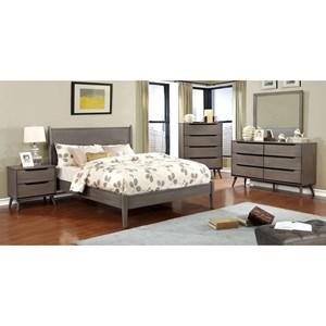 Queen Bed + 1NS + Dresser + Mirror + Chest