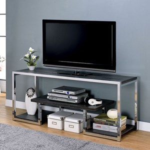 """Contemporary 60"""" TV Stand with Metal Frame"""