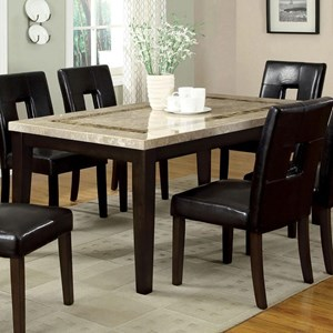 Contemporary Marble Top Rectangular Dining Table