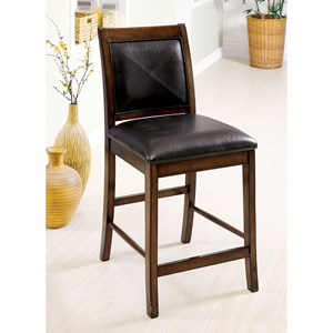 Transitional Counter Height Side Chair 2-Pack with Upholstered Seat and Back