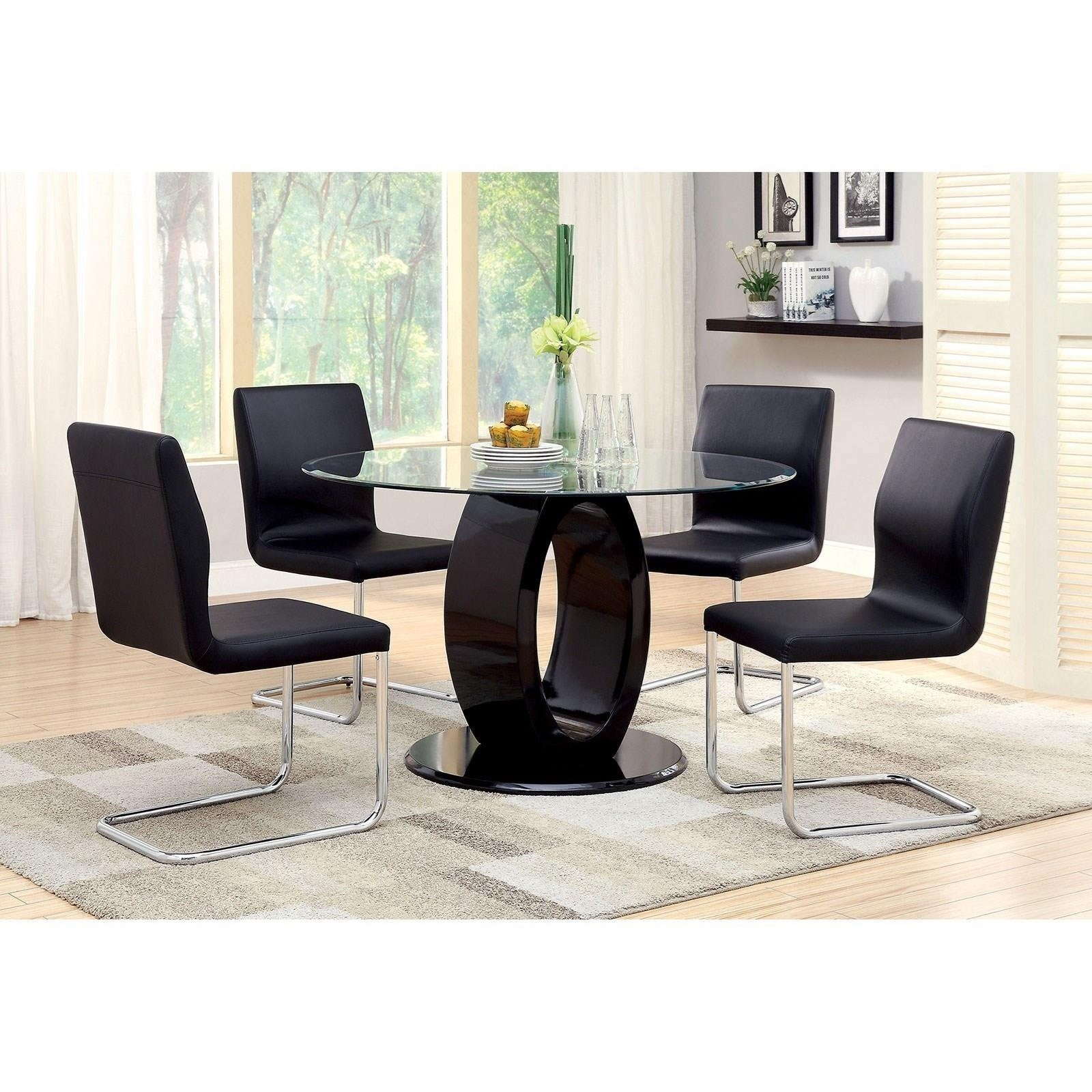 Lodia I Table and 4 Side Chairs at Household Furniture