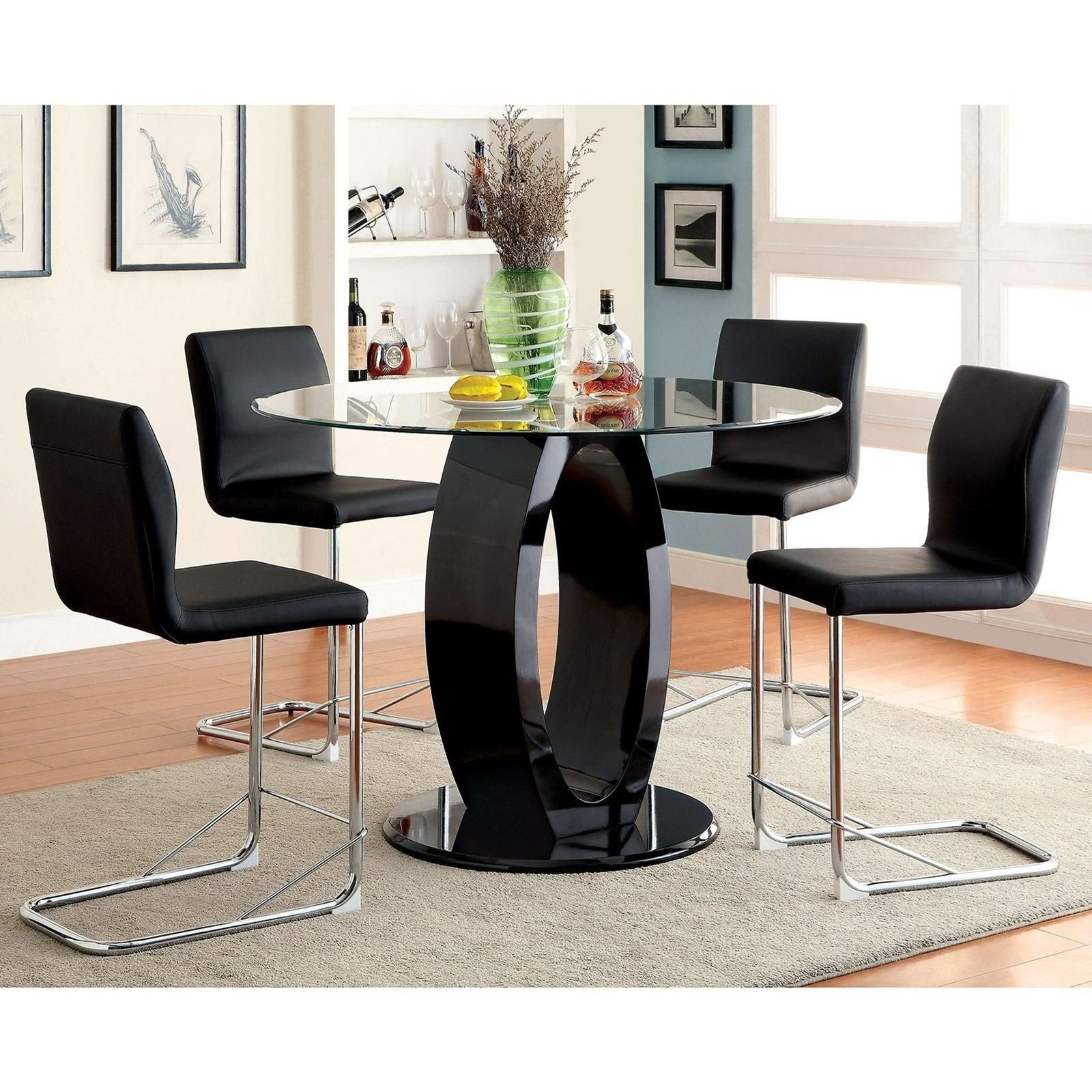 Lodia II Table and 4 Side Chairs at Household Furniture
