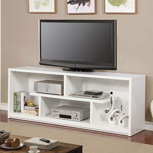 "Contemporary 72"" TV Stand with Open Shelving"