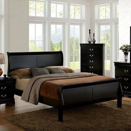 Louis Philippe III Full Bed by Furniture of America at Nassau Furniture and Mattress