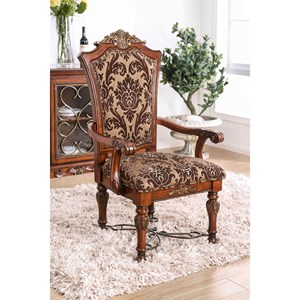 Set of 2 Traditional Arm Chairs