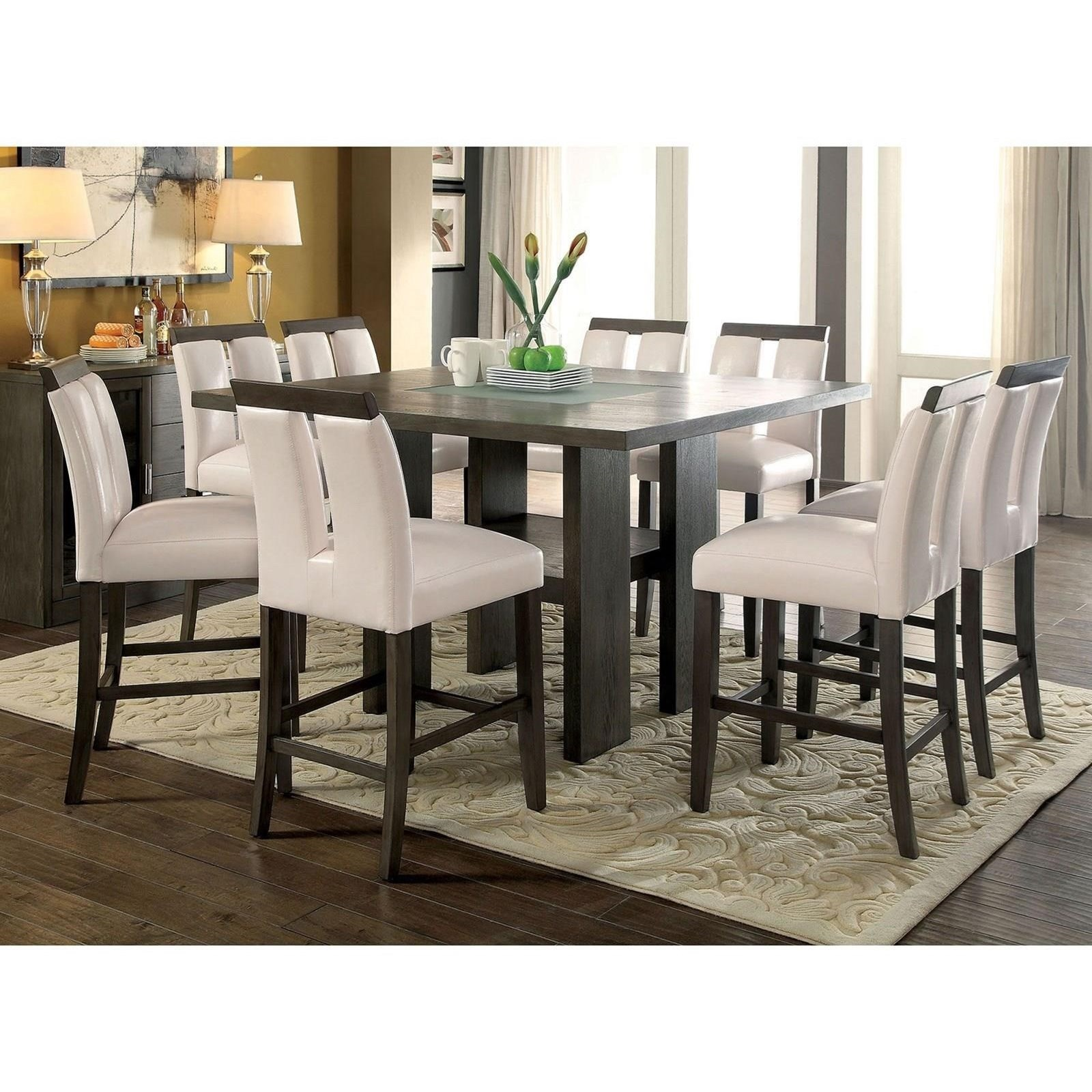 Luminar Counter Height Table Set by Furniture of America at Nassau Furniture and Mattress
