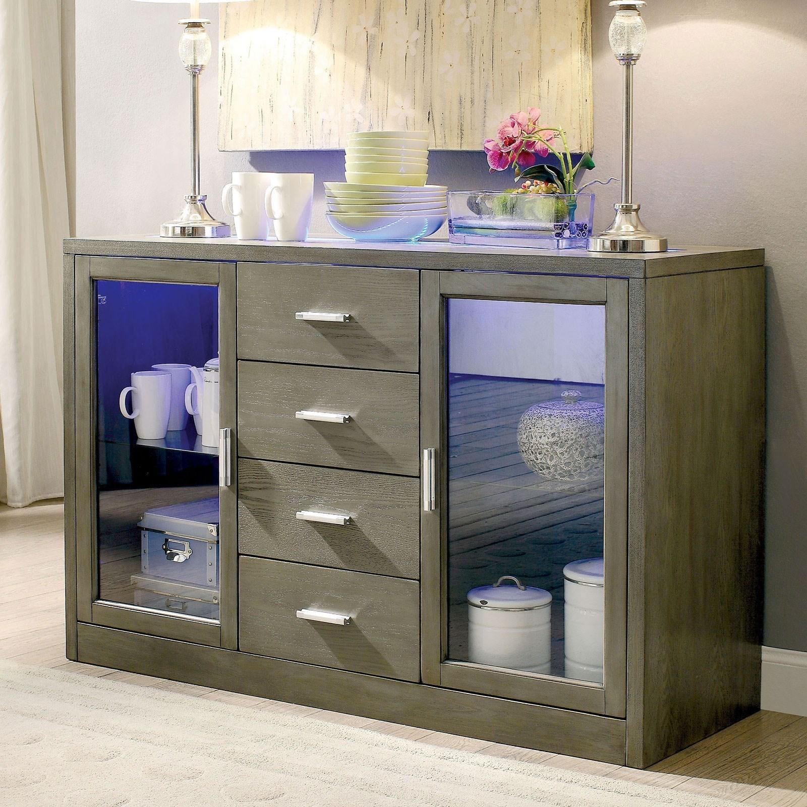 Luminar Server by Furniture of America at Nassau Furniture and Mattress