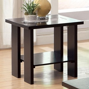 Modern End Table with LED Lights