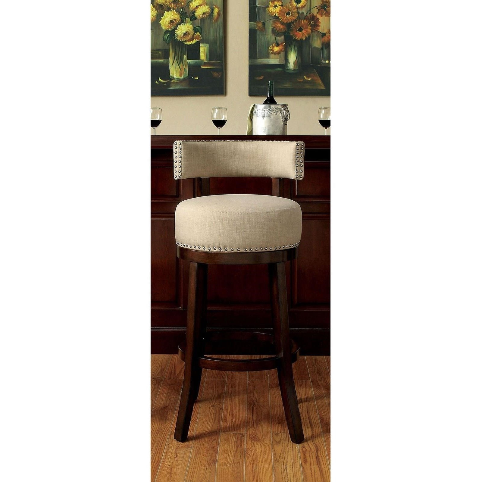 "Lynsey 29"" Bar Stool by Furniture of America at Nassau Furniture and Mattress"