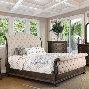 Upholstered Queen Sleigh Bed