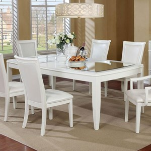 Dining Table with Mirror Inserts