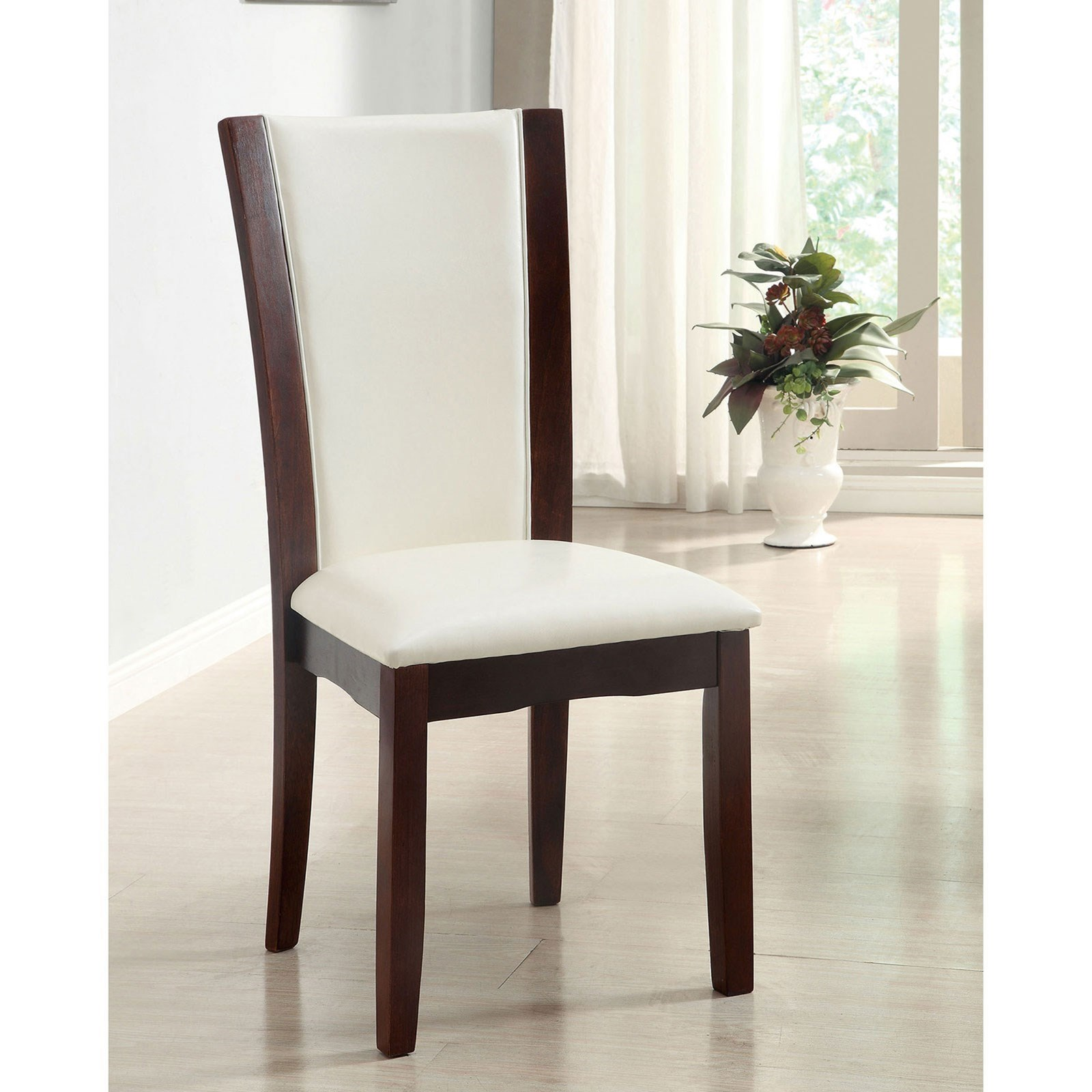 Manhattan I & II Set of 2 Side Chairs - Espresso Finish at Household Furniture
