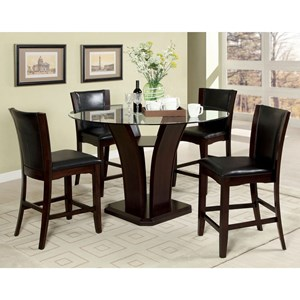 Contemporary Pub Table Dining Set for Four