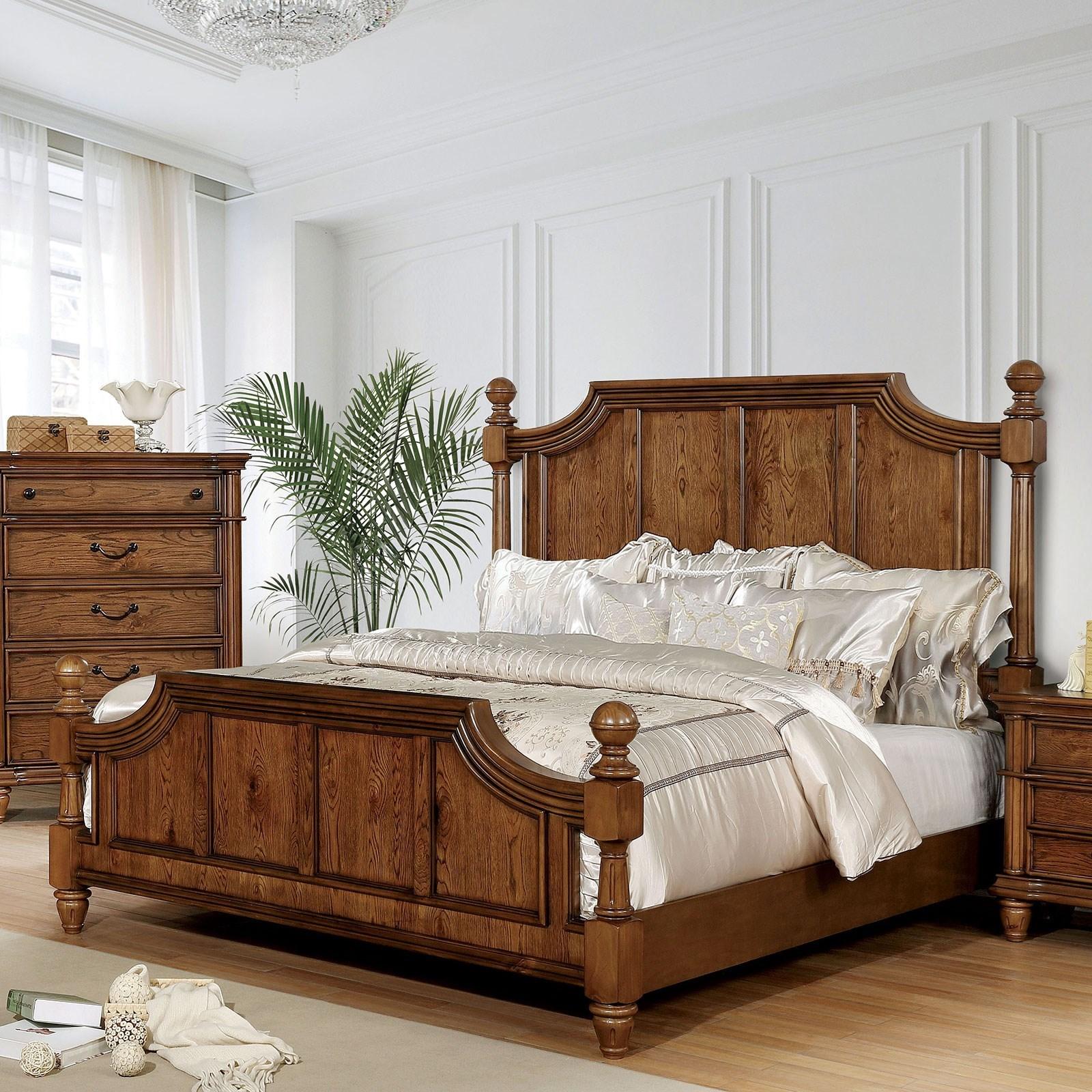 Mantador Cal King Poster Bed at Household Furniture