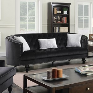 Traditional Sofa with Glam Detailing