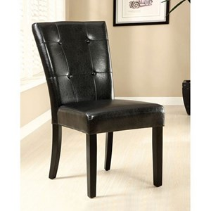 2 Pack of Contemporary Parson Side Chairs