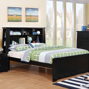Contemporary Full Size Bookcase Bed
