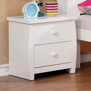 Contemporary Youth Bedroom 2 Drawer Nightstand