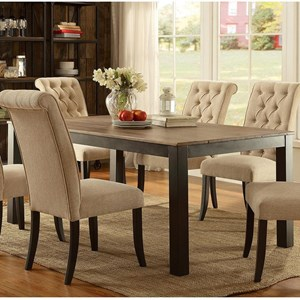 Contemporary Dining Table with Solid Wood Top